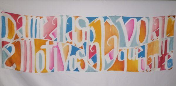 regalo especial seda pintada aziza puch