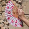 abanico espirales rosa