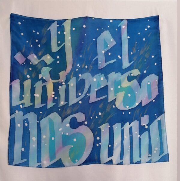 pañuelo de cuello seda pintada a mano azizapuch
