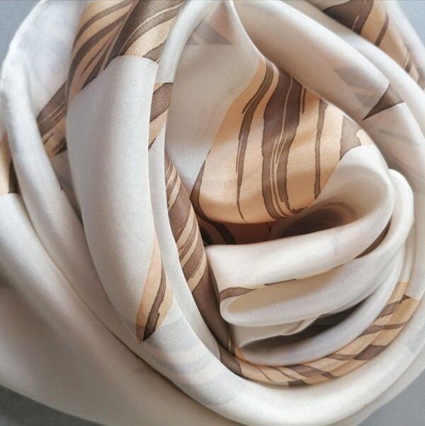 pañuelo de seda camino de santiago huella roncesvalles azizapuch